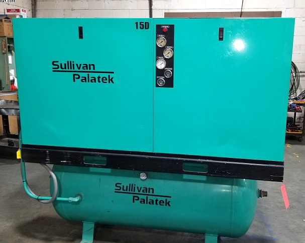 SULLIVAN PALATEK Model 15D 15 HP Rotary Screw Air Compressor.
