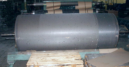 "Card Breast Cylinder Roll, 1000mm (41"") diameter x 100""."
