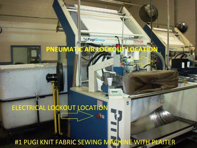 PUGI Knit Sewing Machines with plaiter lockout.
