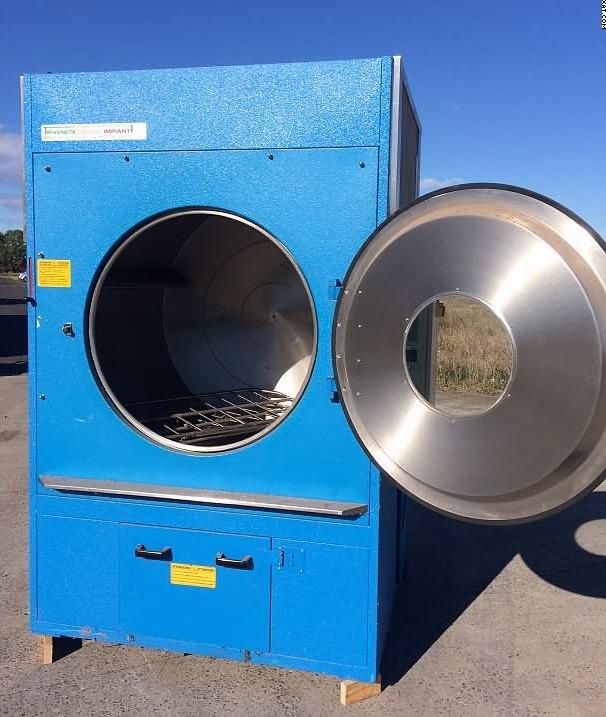Triveneta grandi impianti tumble dryer 100 kg capacity - Grandi impianti lavatrici ...