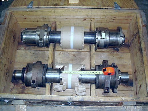 "FLEISSNER Crimper Roll Set, 160mm, long shaft (37""), rebuilt."