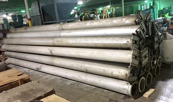 Aluminum Quench Tubes from Fiber Spinning Line,