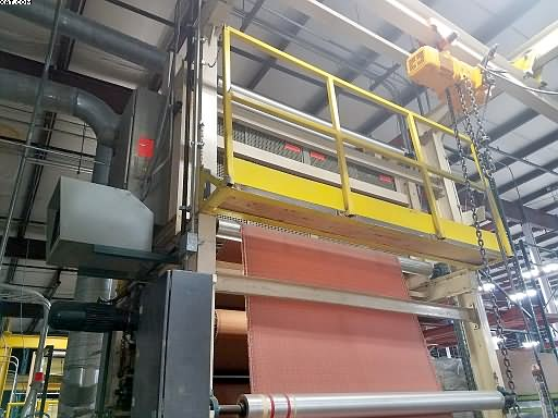 "CONVERTING CONCEPT Laminating Line, 78"" face melt, 1998 yr:"