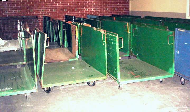 "Roll Goods Trucks, 45x60x34"" high sides,"