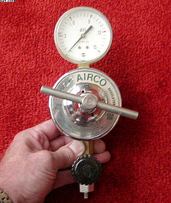 AIRCO Oxygen Line Regulator, designed for high flow pipe line,