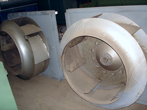 Exhaust Fans from Drum Dryer.