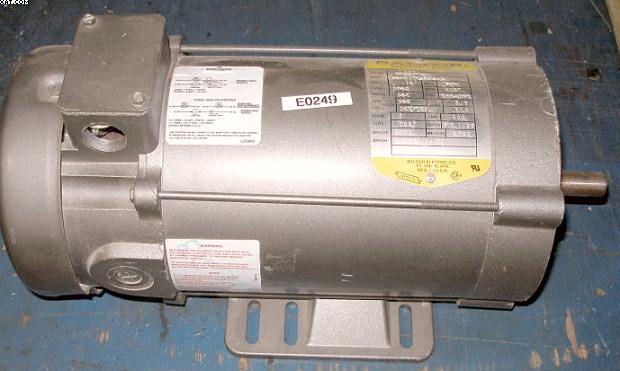 Baldor 3 4 hp dc motor for 3 hp dc electric motor