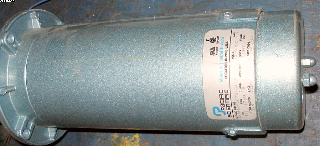 PACIFIC SCIENTIFIC 1/2 hp Motor, DC