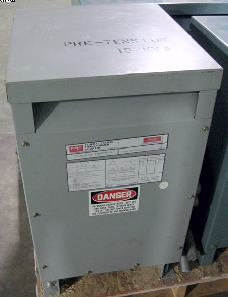 FEDERAL PACIFIC 15 KVA Isolation Transformer,