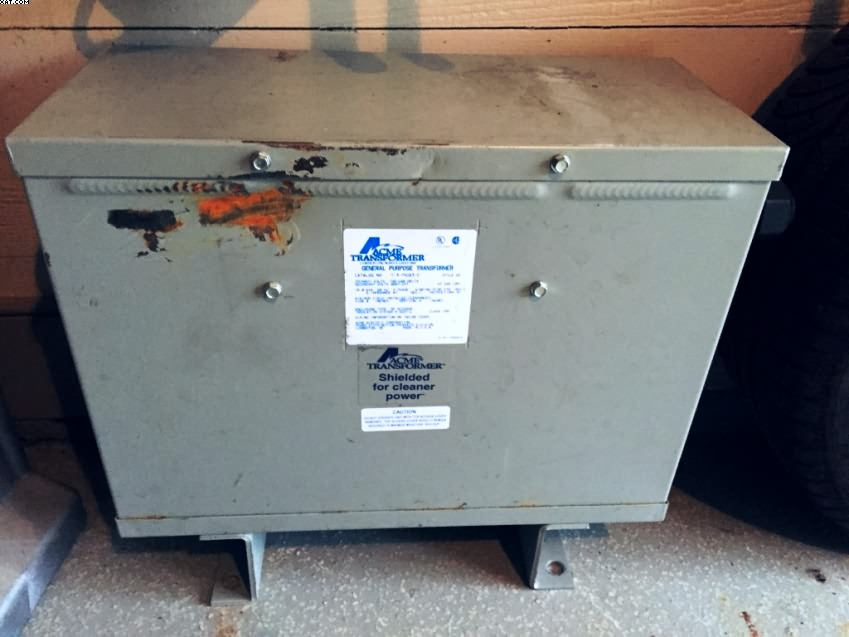 ACME 15 KVA step up transformer,