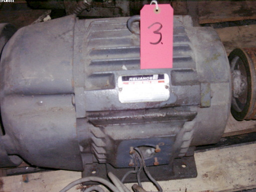 RELIANCE DUTY MASTER TEXTILE MOTOR, 15 hp, AC,