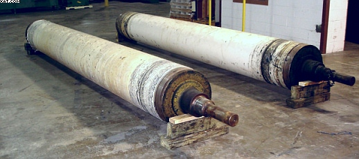 "PERKINS Cotton Calender Rolls, 24"" diameter x 17"
