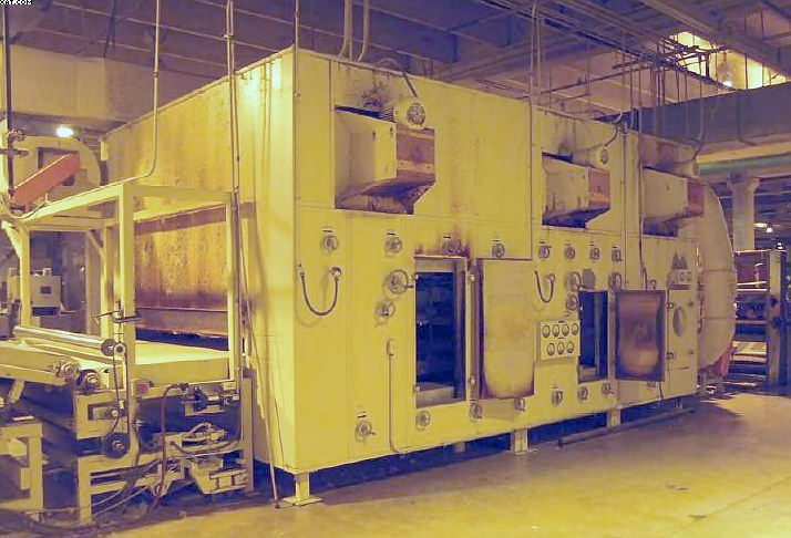 "Thermobonding Electric Oven, 110"" opening, 102"" wide belt,"