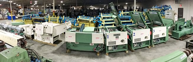 LAROCHE Recycling Line, 2006 yr, (3) x 1000mm cylinders.