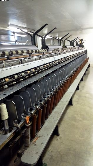 "D&F Wool Spinning Frame, 96 spindles, 5-1/2"" rings."