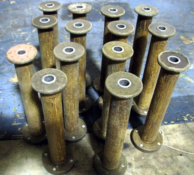 "BOBBINS, 8"" Traverse x 2.5"" Base x 2"" Top, .50"" Bore."